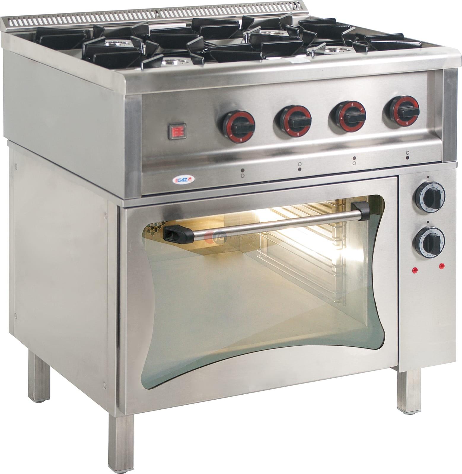 Kuchnia Gazowa 4 Palnikowa Z Piekarnikiem Elektrycznym 20551 Kw Egaz Tgl 4720pke 3