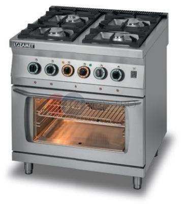 Kuchnia Gazowa 4 Palnikowa Z Piekarnikiem Elektrycznym Z Termoobiegiem Gn11 Lozamet Linia 700 L700kg4 Pet